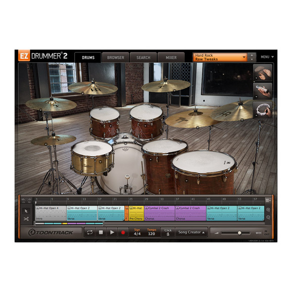 Toontrack EZX Hard Rock Expansion for EZ Drummer 2 (Serial Download)