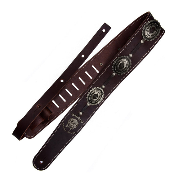 Richter 1567 Motorhead Brown/Old Brass Leather Guitar Strap