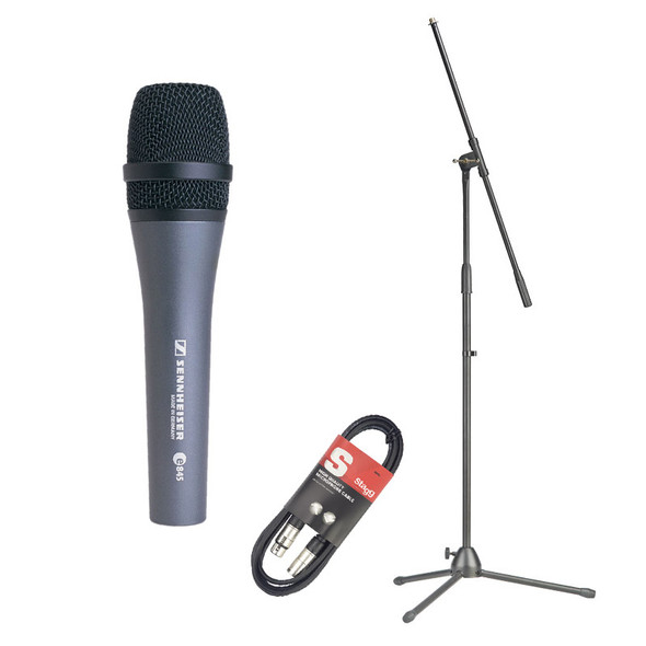 Sennheiser E845 Dynamic Microphone With Stand and Cable