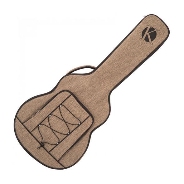 Kinsman KUSJ8 Jumbo Acoustic Guitar Case, Khaki
