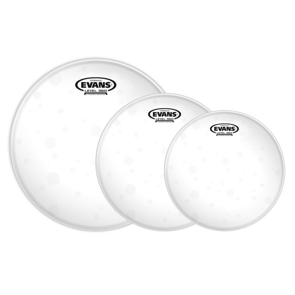 Evans ETP-HYDGL-S Hydraulic Glass Drum Heads Standard Set, 12,13,16 inches