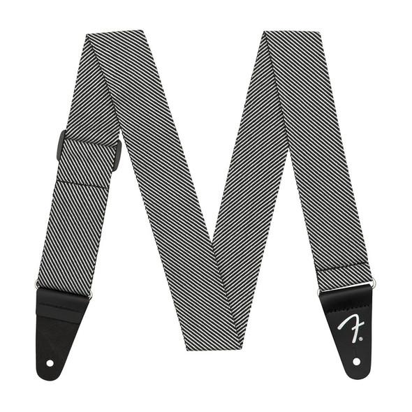 Fender Modern Tweed Guitar Strap, White & Black