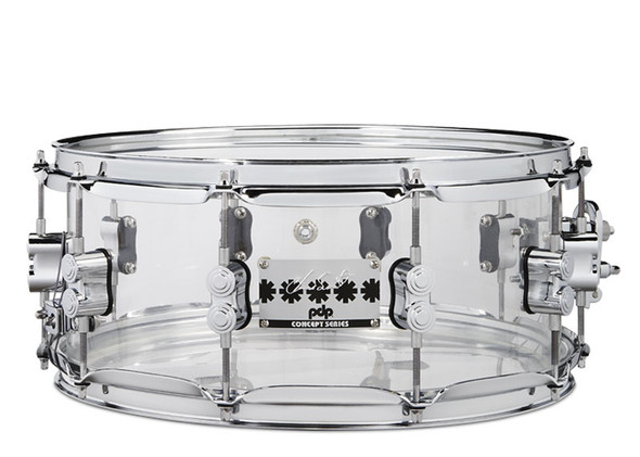 Pacific (PDP) 14 x 6 Chad Smith Signature Clear Acrylic Snare Drum