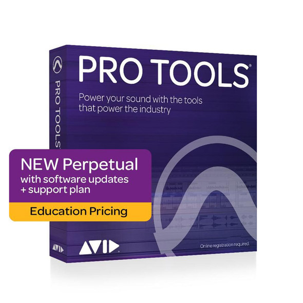 AVID Pro Tools Perpetual NEW with 1-year updates + support plan - Education
