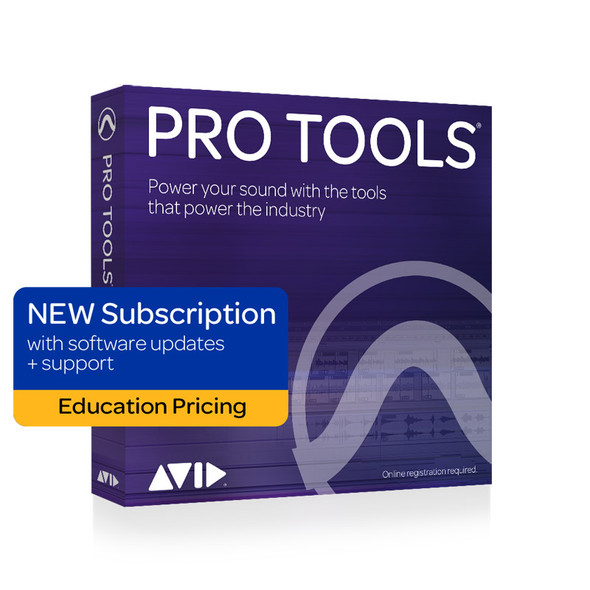 AVID Pro Tools 1Y Subscription NEW with updates + support plan- Education