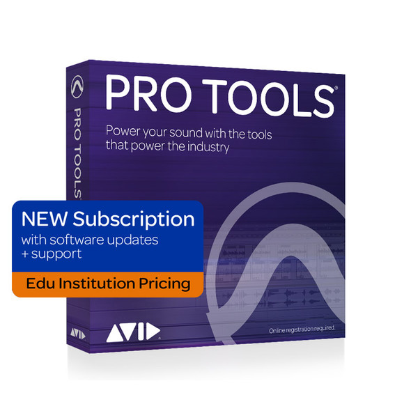 AVID Pro Tools 1Y Subscription NEW updates + support plan- Edu Institution Only