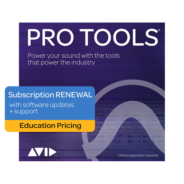 AVID Pro Tools 1Y Subscription RENEWAL updates+support - Education Pricing