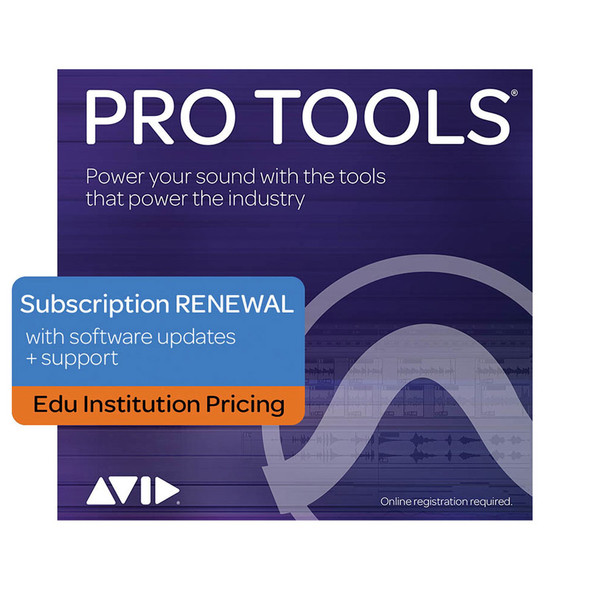 AVID Pro Tools 1Y Subscription RENEWAL updates+support - Edu Institution Only