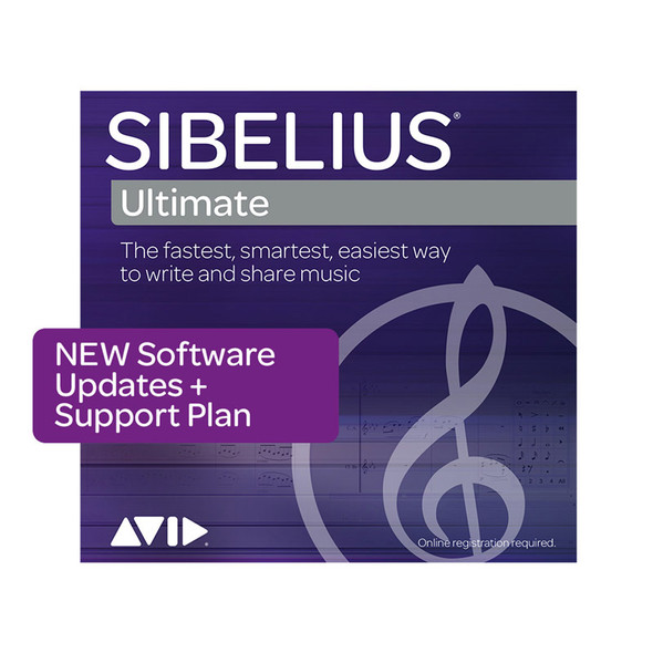 AVID Sibelius | Ultimate 3-Year Software Updates + Support Plan NEW