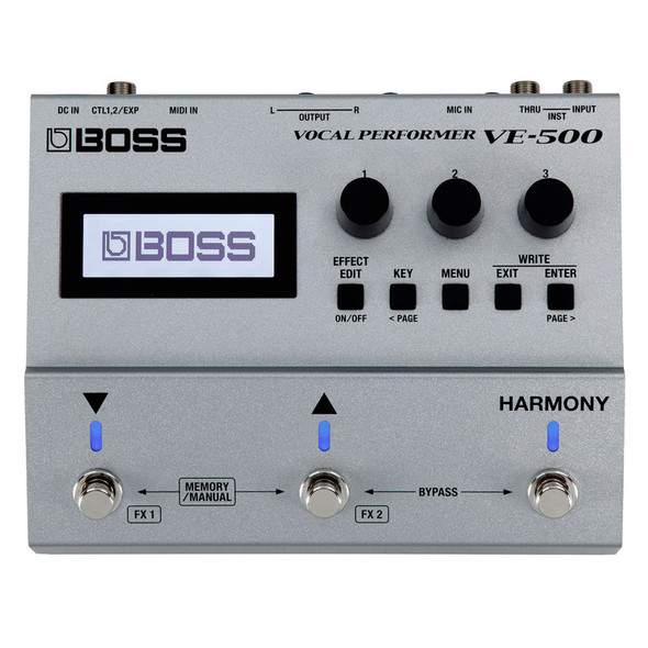 Boss VE-500 Vocal Performer Vocal Effects Pedal