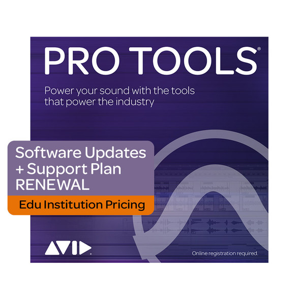 AVID Pro Tools 1-Year Software Updates+Support Plan RENEWAL - Edu Institutions