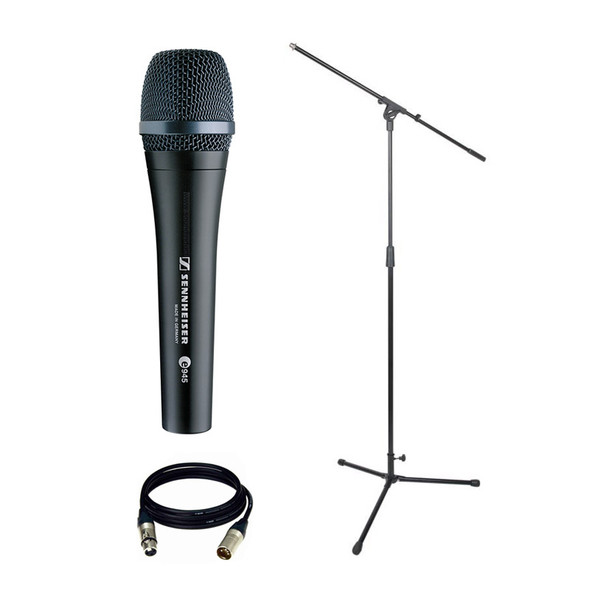 Sennheiser e 945 Dynamic Microphone Bundle with Stand and Cable