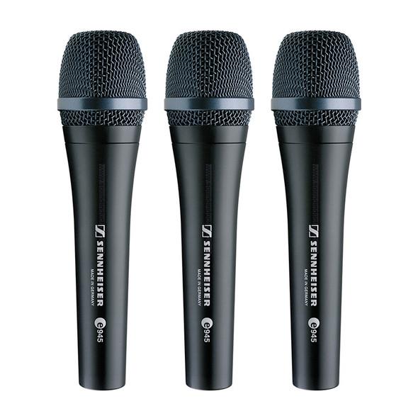 Sennheiser e 945 Dynamic Microphone Triple Pack