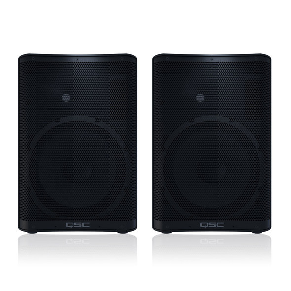 QSC CP12 12 inch Active PA Speakers, Pair