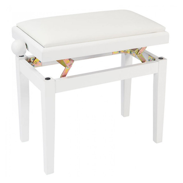 Kinsman KPB03WH Adjustable Piano Bench, White