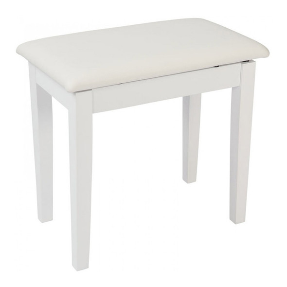 Kinsman KPB01WH Piano Bench with Storage, Satin White