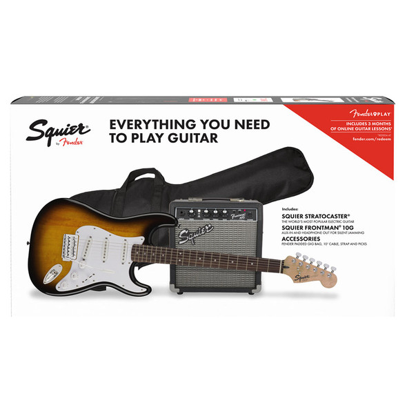 Fender Squier Stratocaster Pack, Brown Sunburst