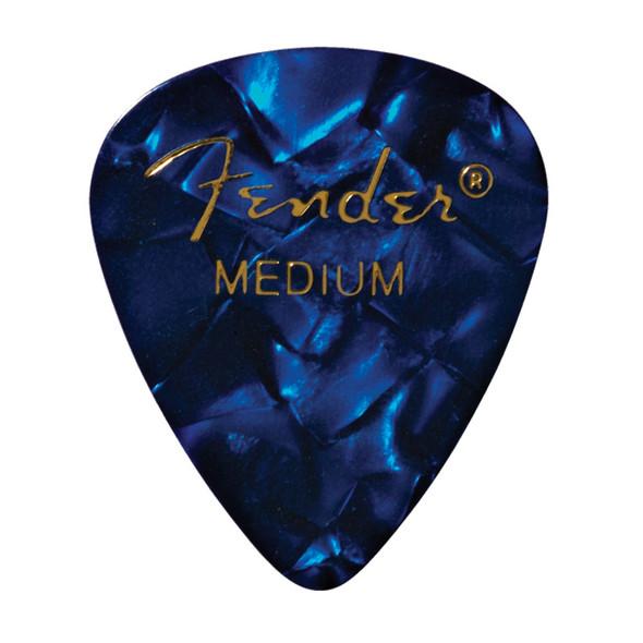 Fender 351 Shape Premium Picks, 12 Pack, Blue Moto, Medium
