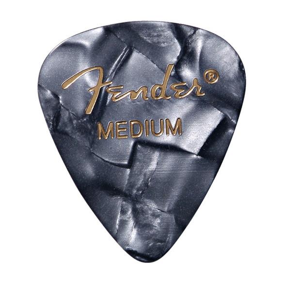 Fender 351 Shape Premium Picks, 12 Pack, Black Moto, Medium