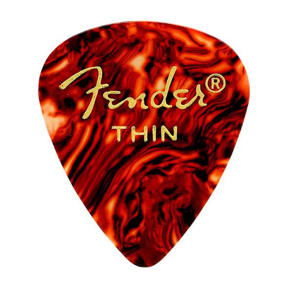 Fender 351 Shape Premium Picks, 12 Pack, Tortoise Shell, Thin