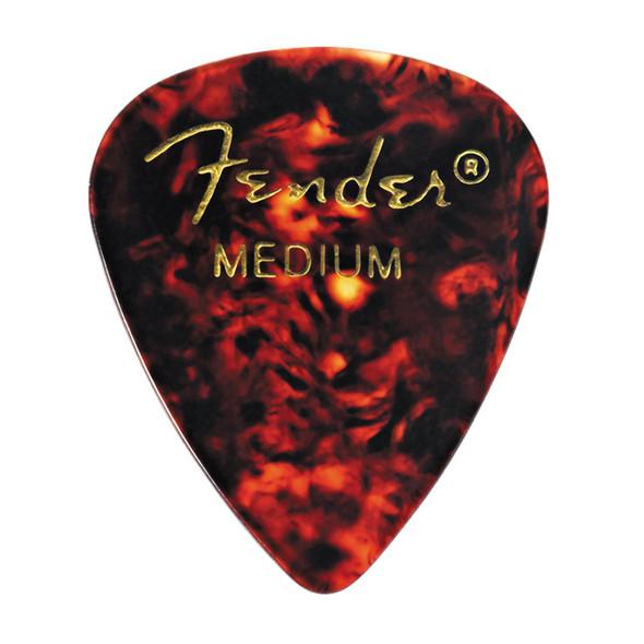 Fender 351 Shape Premium Picks, 12 Pack, Tortoise Shell, Medium
