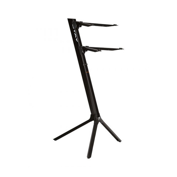 STAY 1100/02 Slim Lightweight Two Tier Keyboard Stand, Black