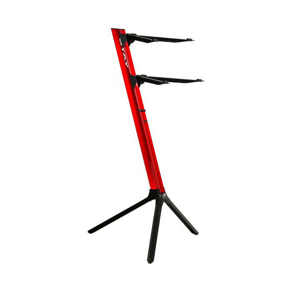 STAY 1100/02 Slim Lightweight Two Tier Keyboard Stand, Red