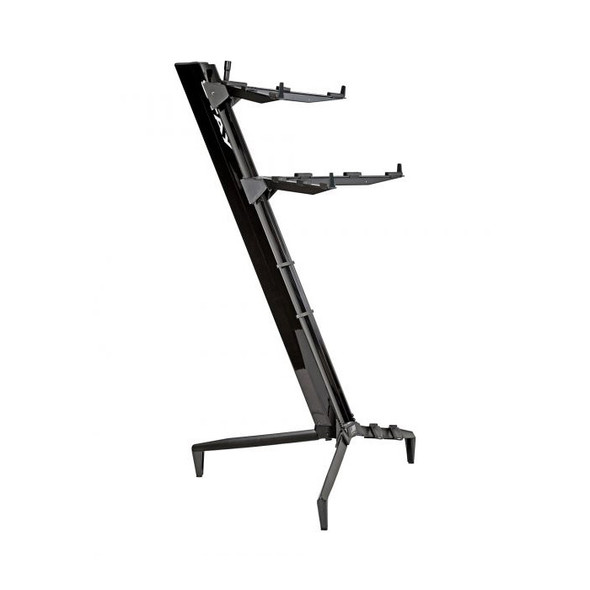 STAY 1300/02 Tower Two Tier Keyboard Stand, Black