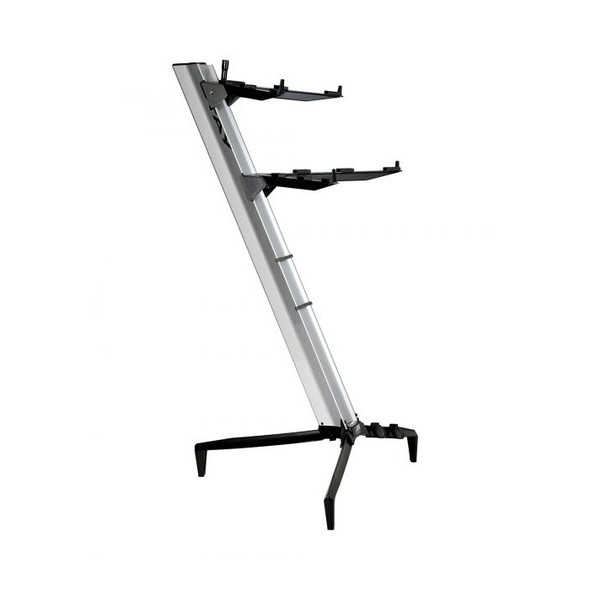 STAY 1300/02 Tower Two Tier Keyboard Stand, SIlver