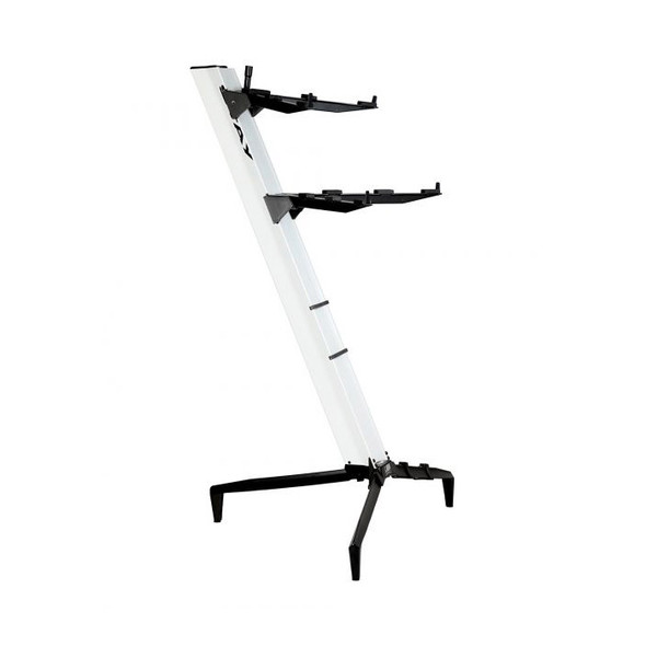 STAY 1300/02 Tower Two Tier Keyboard Stand, White