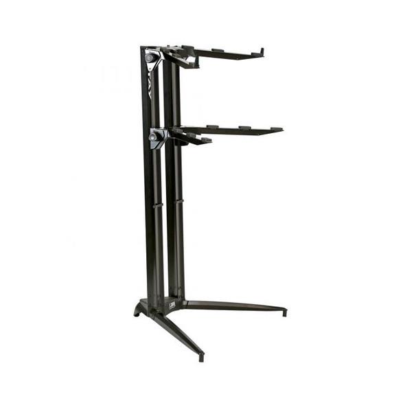 STAY PIANO 120002 Two Tier Heavy Duty Keyboard Stand, Black