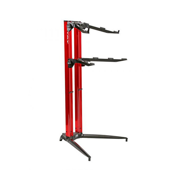STAY PIANO 120002 Two Tier Heavy Duty Keyboard Stand, Red