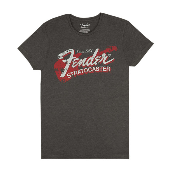 Fender Since 1954 Stratocaster Men's T-Shirt, Grey, XL