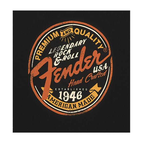 Fender Legendary Rock N Roll Junior Crew T-Shirt, Black, Small