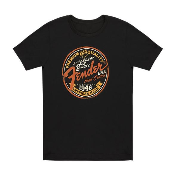 Fender Legendary Rock N Roll Junior Crew T-Shirt, Black, Large