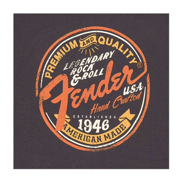 Fender Open Shoulder Woman's T-Shirt, Grey, Large