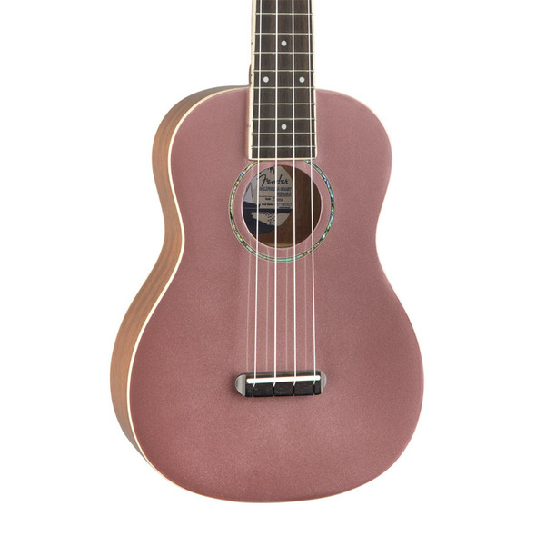 Fender Zuma Classic Concert Ukulele, Burgundy Mist, Walnut Fingerboard