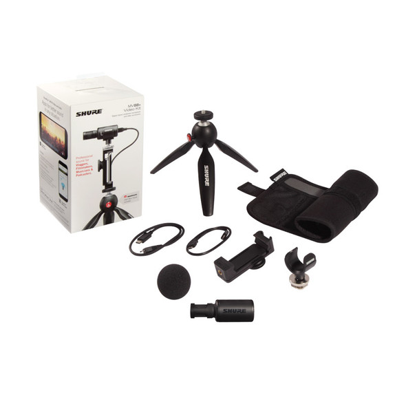 Shure MOTIV MV88+ Video Kit Microphone & Accessories for Lightning iOS Devices