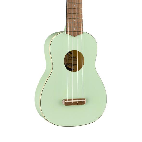 Fender Venice Soprano Ukulele, Surf Green, Walnut Fingerboard