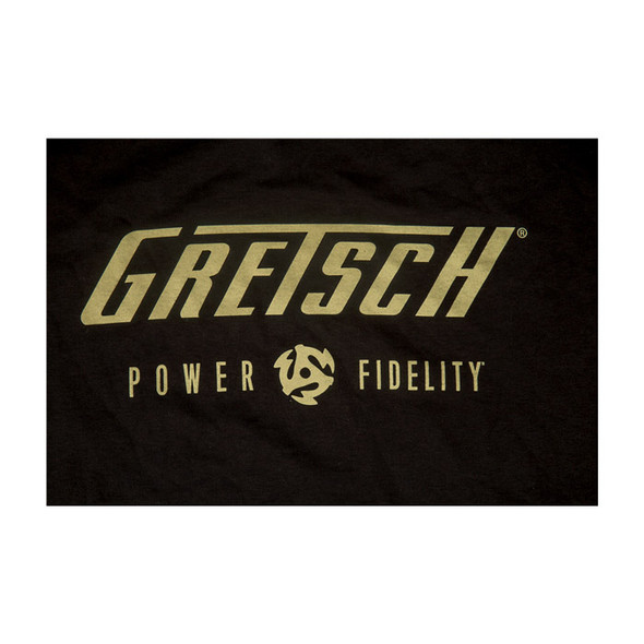Gretsch Power & Fidelity Mens T-Shirt, Black, Large