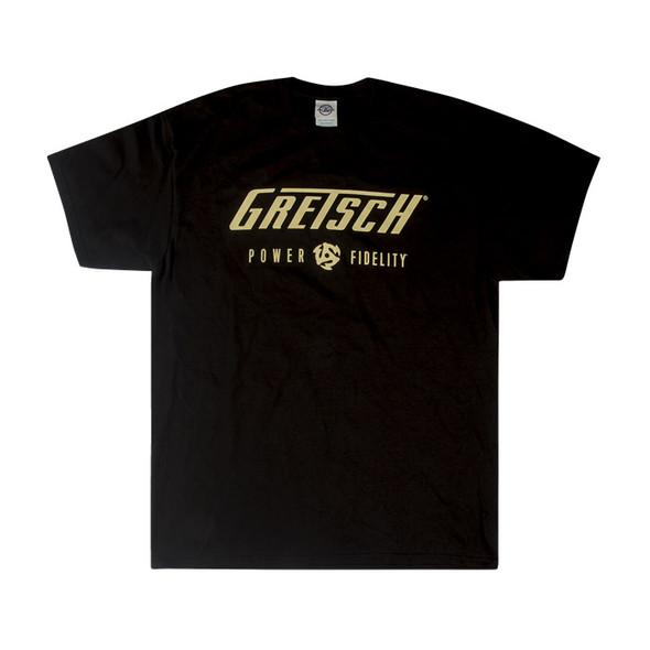 Gretsch Power & Fidelity Mens T-Shirt, Black, XL
