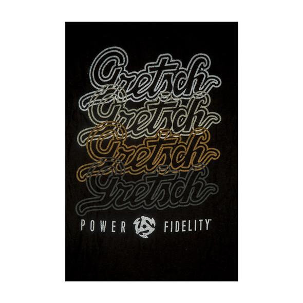 Gretsch Script Logo T-Shirt, Black, XL