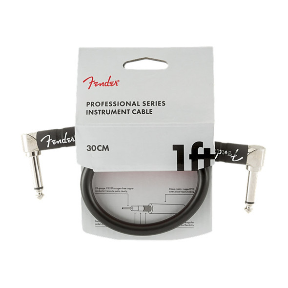 Fender Pro Series 1 foot Instrument Cable, Black