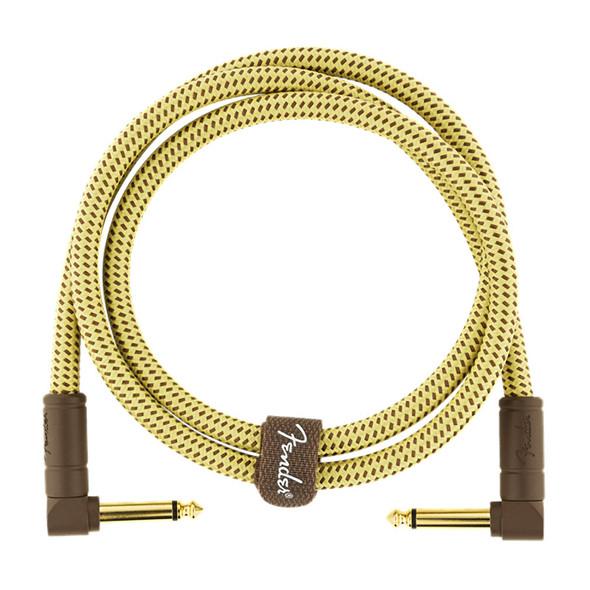 Fender Deluxe Series 3 foot Instrument Cable, Tweed