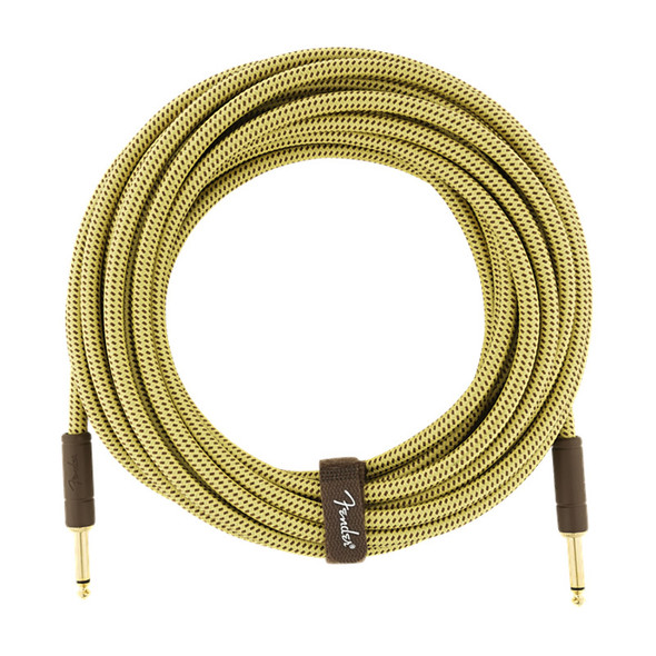 Fender Deluxe Series 25 foot Instrument Cable, Tweed