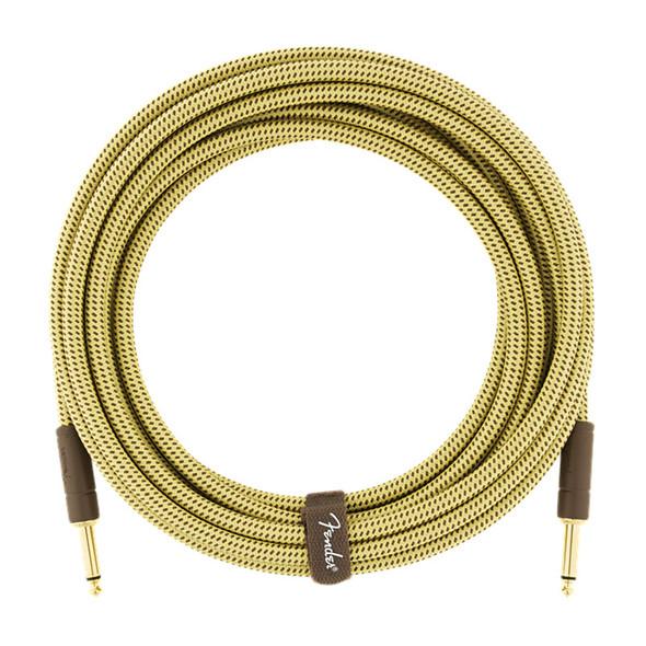 Fender Deluxe Series 18.6 foot Instrument Cable, Tweed