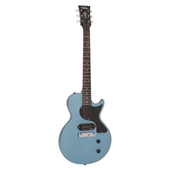 Vintage V120 Reissued Electric Guitar, Gun Hill Blue