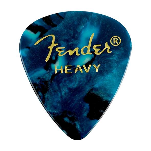 Fender 351 Shape Premium Picks, 12 Pack, Ocean Turquoise, Heavy