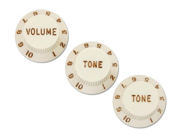 Fender Stratocaster Knobs, Parchment Set