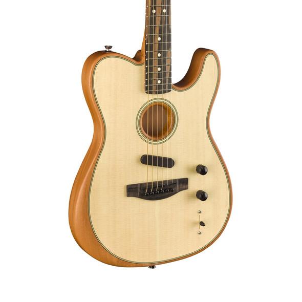 Fender American Acoustasonic Telecaster Electro-Acoustic Guitar, Natural